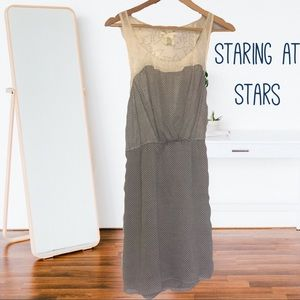 Double layered racerback sundress staring at stars